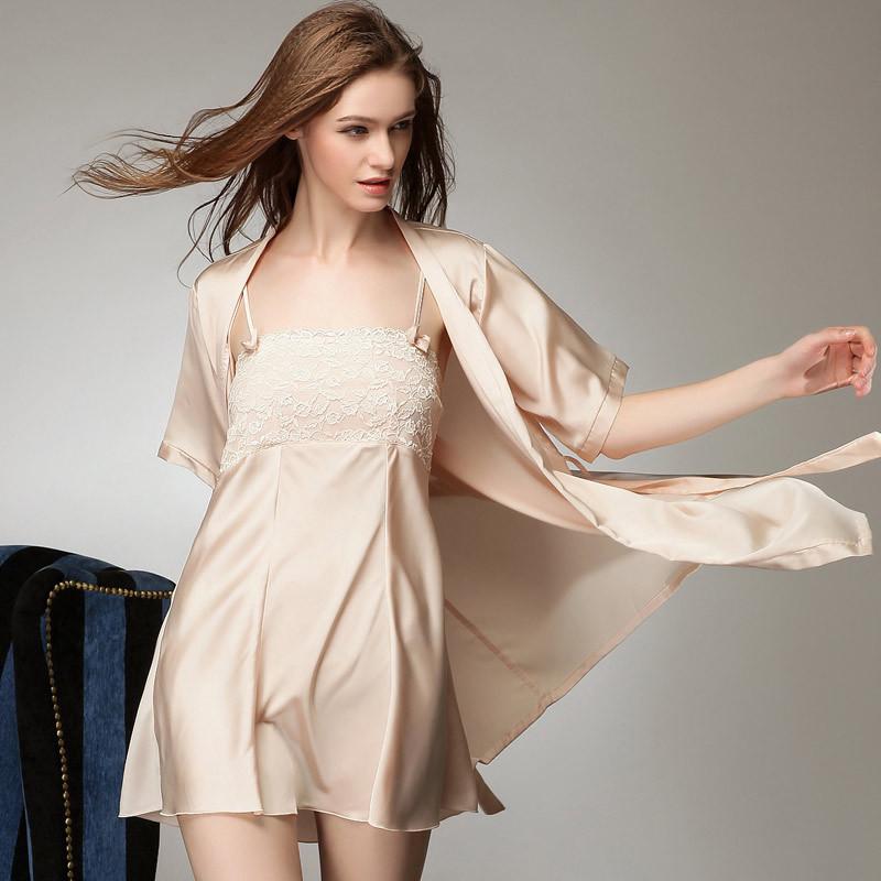 Áo choàng kèm váy lụa cup ngực cao cấp 10