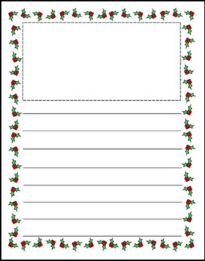 Number Names Worksheets kindergarten writing page : Free Writing Paper With Picture Space - printable writing paper ...