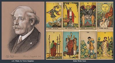 A.E. Waite. Hermetic Order of the Golden Dawn. Occult. Rider-Waite Tarot deck. by Travis Simpkins