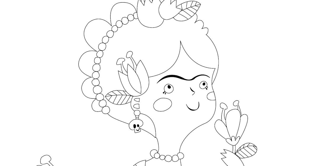 El Jardín De Kipuruki Free Frida Kahlo Printable Coloring Page
