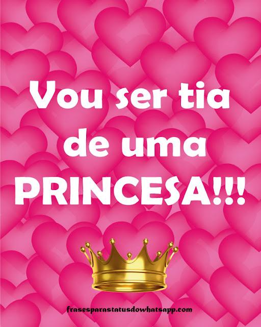 vou ser tia de uma princesa