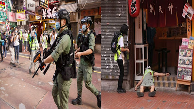 Hong Kong Police Fire Pepper Balls on Protesters; A Journalist Becomes Unconscious by a Ball Shot