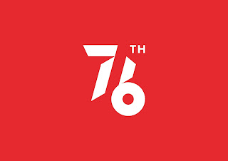 Logo HUT RI 2021 Background Merah Tanpa Tagline JPG