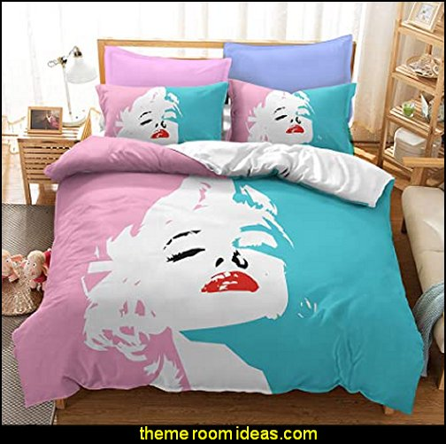 Marilyn Monroe bedding Marilyn Monroe bedroom decor Marilyn Monroe decorations