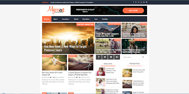 My Mag Magazine Responsive Blogger Template