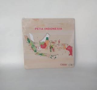 Puzzle Peta Indonesia Mainan Kayuku
