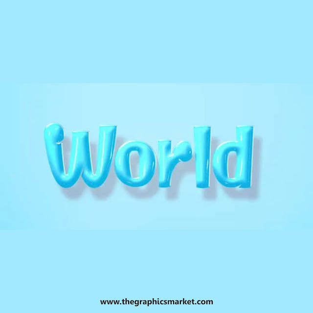 world text effect psd free download