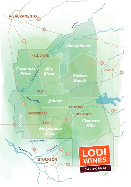 Lodi AVAs wine region