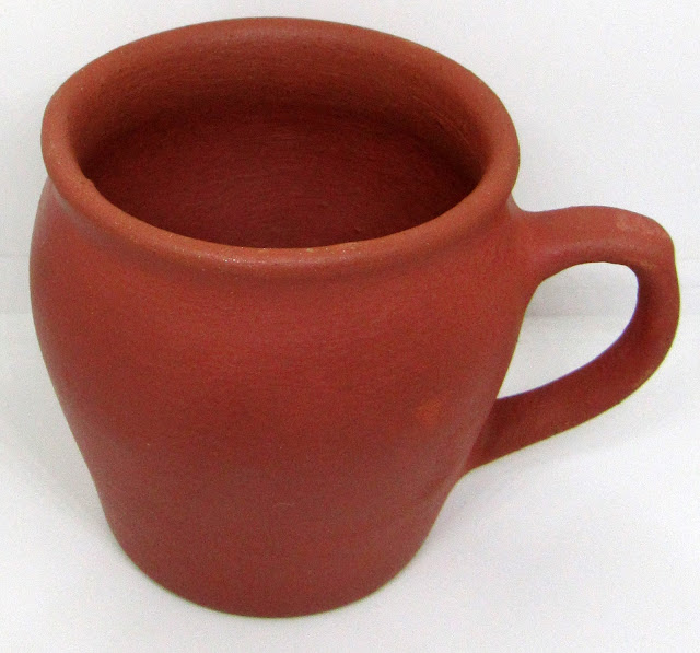 Tea Mud tumbler (glass) set-மண் குவளை or mini clay tumbler