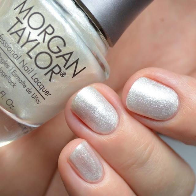 white pearl shimmer nail polish