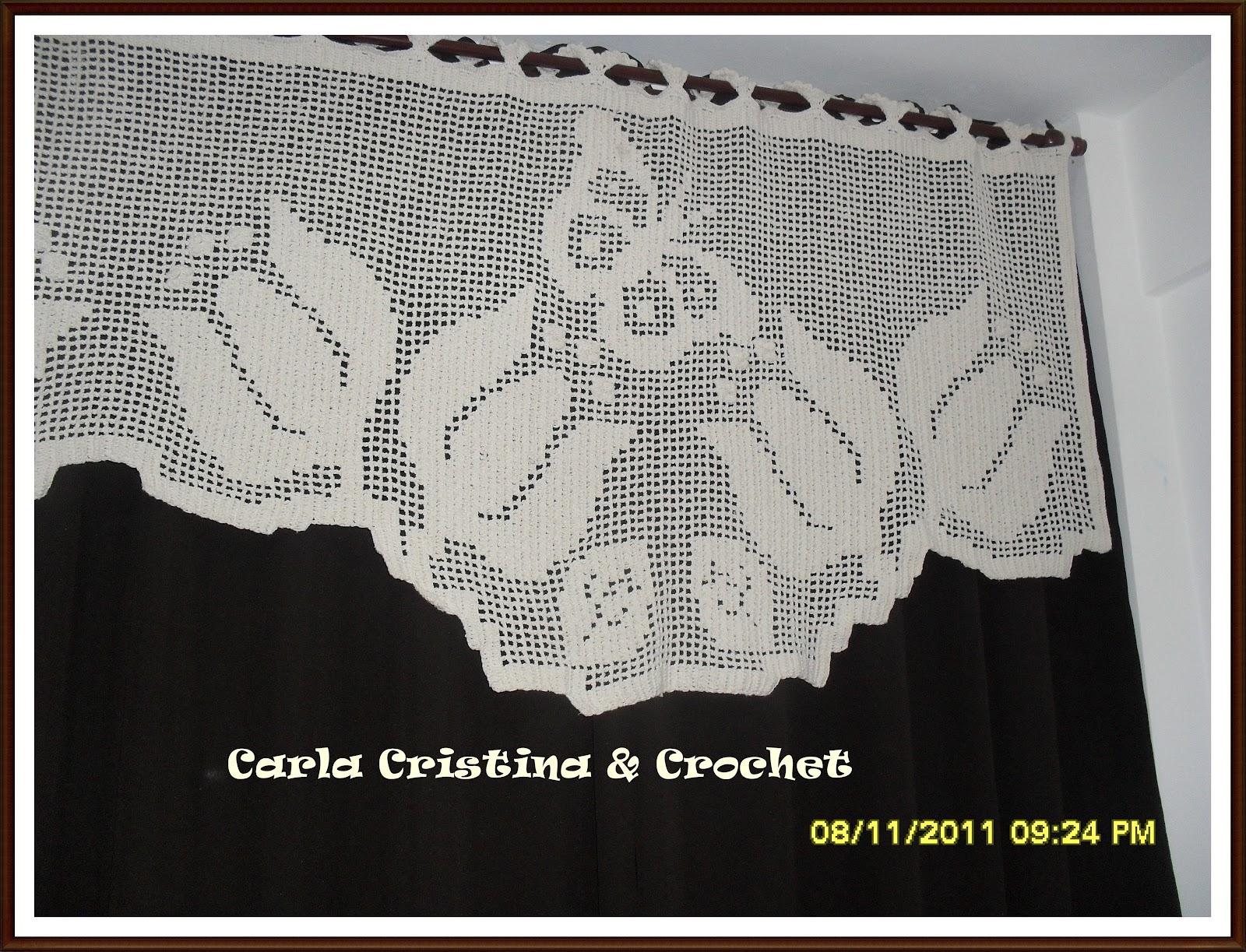 Cortina De Croche Para Quarto Com Grafico Nchome Info