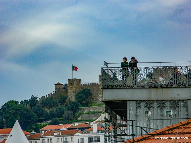 mirante do Elevador de Santa Justa, Lisboa