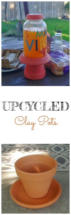 Upcycled Clay Flower Pots