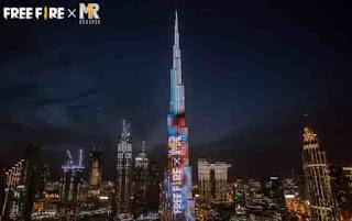 Free Fire Rilis Karakter Baru Melalui Atraksi Light Show Burj Khalifa