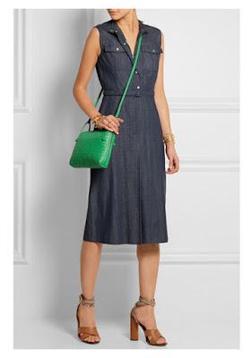 Сумка-почтальон с платьем