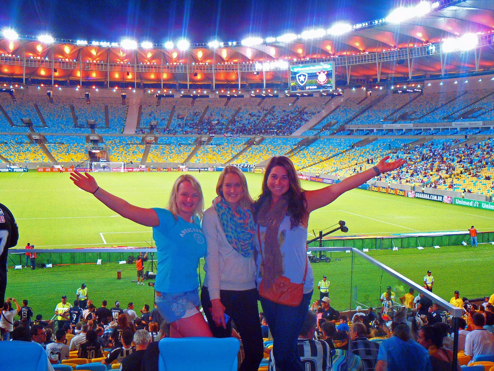 Girls at Maracana Stadium in Rio de Janeiro
