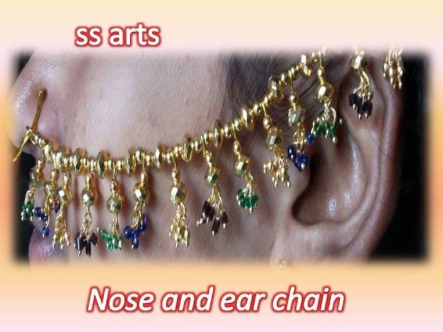 Here is silk thread jewellery making,pearls jewellery,beads jewellery,paper jewellery,fabric jewellery,quilling jewellery,silkthread jewellery making at home,How to make silk thread materials bridal nose to ear chain making at home ssarts-youtube-channel-videos