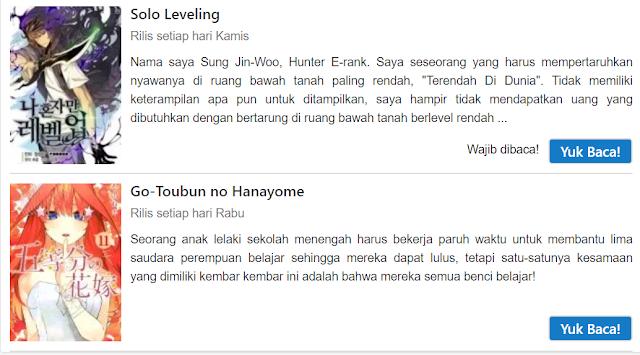 Baca Manga Paling Lengkap Bahasa Indonesia hanya di Komikcast!