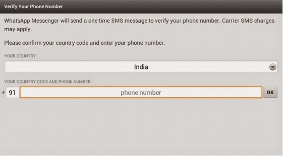 E Info Book Install WhatsApp on device without SIM card
