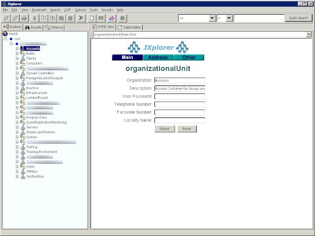 Dan Dar3: JXplorer - Java LDAP Browser