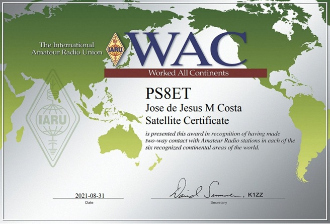 WAC - Worked All Continents - Satellite