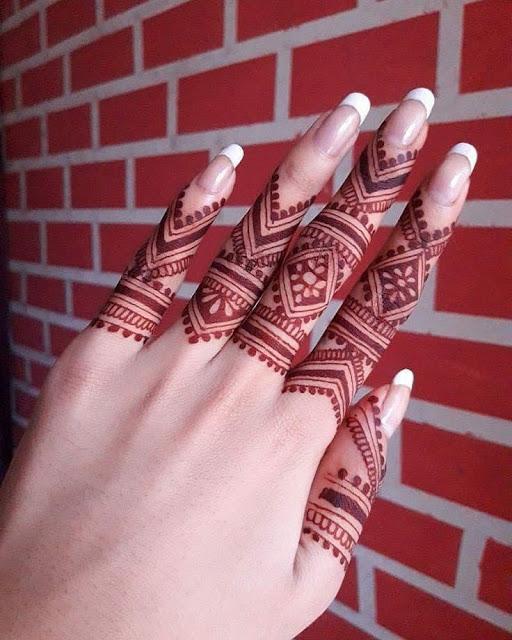 New Fingers Mehndi Design Easy and Beautiful Stylish Pics - WallpaperDPs
