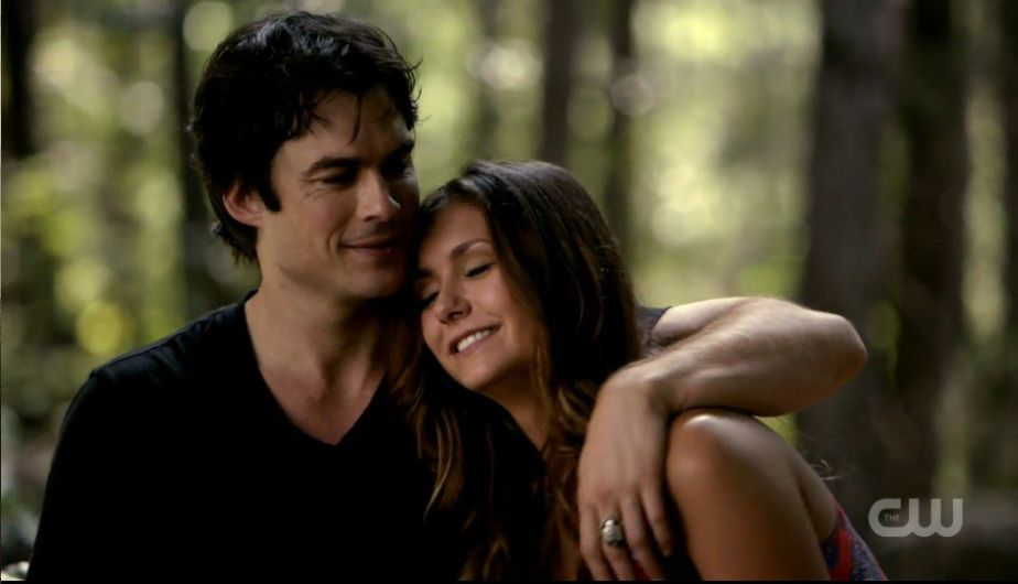 Damon y Elena en 'The Vampire Diaries'