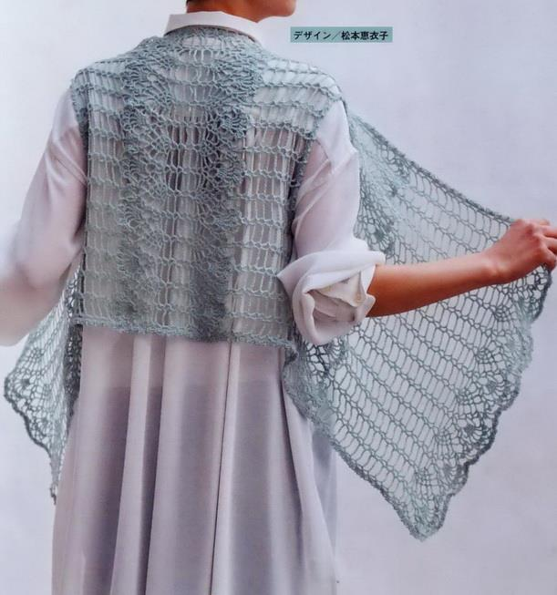 crochet vest women easy lace