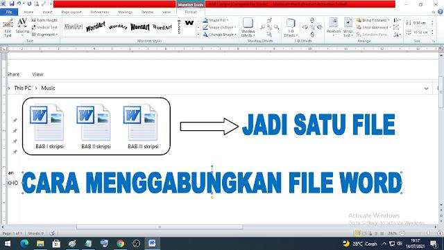 cara menggabungkan file word menjadi satu