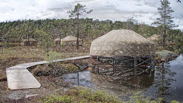 If you like to live in charismatic yurts close to the nature, then Canvas Hotel is the place to visit, which is situated on a small-sized isle. In order to reach there, the hotel guide will take you there on foot or on a bicycle.