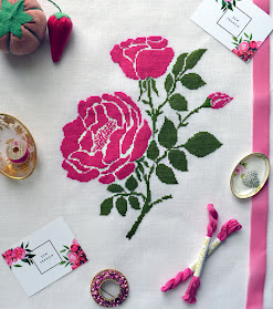 Large Garden Rose Pattern
