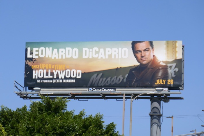 Leonardo DiCaprio Once Upon a Time in Hollywood billboard