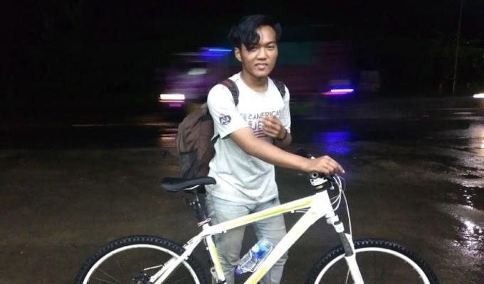 Berbekal Tekad, M. Zaki Santoso Pulang Kampung dengan Gowes Dari Djogja ke Bengkulu