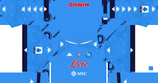 S S C Napoli Kit 2020 2021 Kappa Kit Dream League Soccer 2019