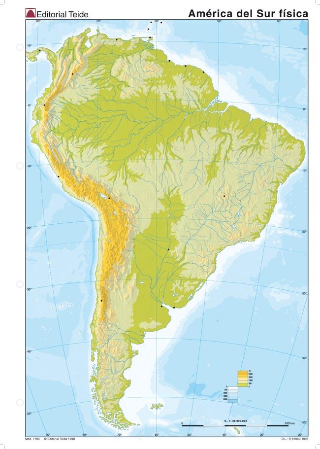 Mapa Físico De áfrica Mudo.Mapa De America Mudo Fisico
