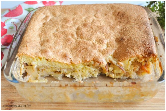 receita de bolo de maçã rápido