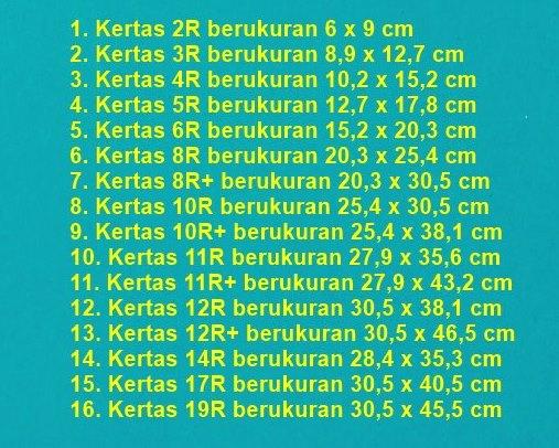 Ukuran kertas seri R