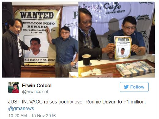 Breaking News: P1 Million Bounty For Information On Former De Lima Driver Ronnie Dayan's Head