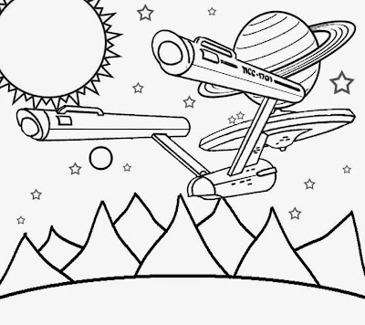 The Final Frontier USA space age pictures star trek print color pages for kids colouring activities