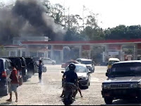 (Video) Motor Terbakar di SPBU Desa Kekiling, Bangkainya Hilang, Aneh!