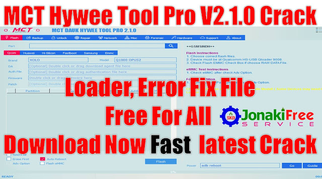 Download Free MCT DAUK HYWEE TOOL PRO V2.1.0 Full Cracked By MobileFlasherBD.exe