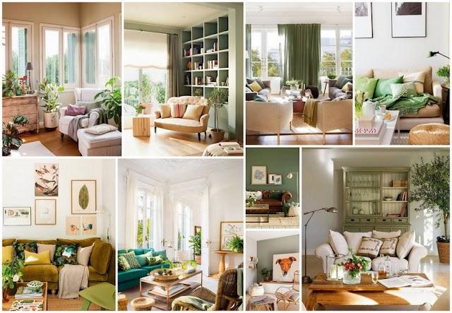 Προτάσεις και τρόποι για να διακοσμήσετε το σαλόνι σας σε Πρασινωπές αποχρώσεις