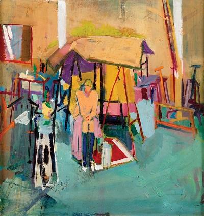 "by Geraldine Robarts - ""Still Life in Studio"", 1958"