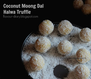 Coconut Moongdal Halwa Truffle