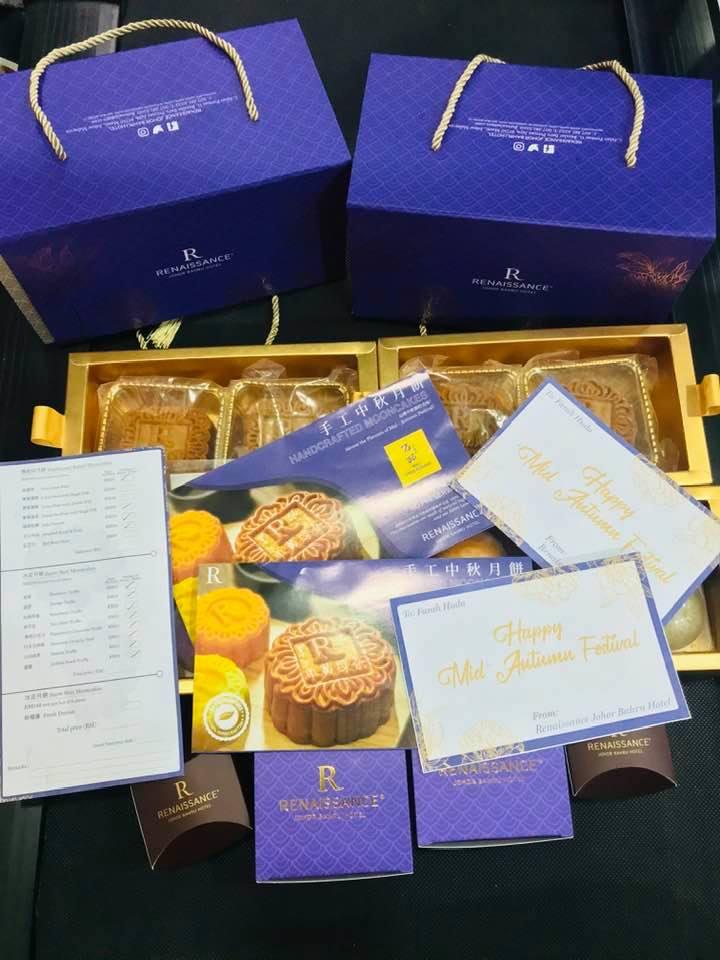 Mooncake Halal dari Renaissance Johor Bahru Hotel