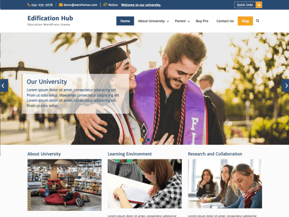 WordPress Eğitim Teması-Edification Hub