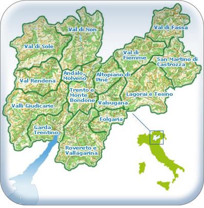Fiumi Del Trentino Alto Adige Cartina.Ultima Stella A Destra Le Valli Del Trentino