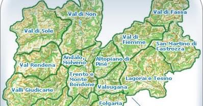 Trentino Cartina Delle Dolomiti.Ultima Stella A Destra Le Valli Del Trentino