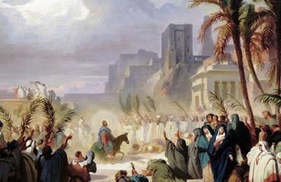 Christ's triumphal entry into Jerusalem by Félix Louis Leullier 1811-1882 Paris