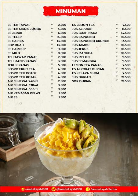 daftar harga menu sambel layah 2021